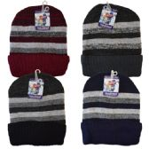 48 Units of Winter Knit Hat Stripes