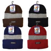36 Units of Winter Hat Insulated Sport Assorted Colors - Winter Beanie Hats