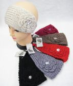 36 Units of Warm Winter Ear Warmers With Big Flower