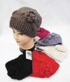 36 Units of Warm Winter Wide Ear Warmers Solid Assorted Colors