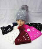 36 Units of Womens Fashion Winter Beanie With Flowers