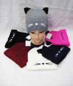 36 Units of Womens Fashion Winter Cat Beanie