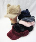 36 Units of Womens Fashion Winter Cap With Ears Assorted Color