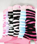 60 Units of Womens Fashion Striped Leg Warmers