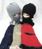 36 Units of Winter Ski Mask Faux Fur lined Assorted Colors - Ski Gloves
