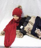 12 Units of Womens Winter Warm Hat And Scarf Set With Pom POm