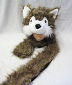 12 Units of Winter Fashion Wolf Hat Extra Large
