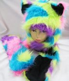 12 Units of Winter Animal Hat Colorful