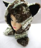 36 Units of Winter Brown Animal Hat