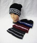 36 Units of Mens Winter California Beanie Assorted Color