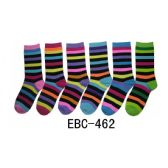 360 Units of Women's Printed Crew Socks Neon Stripes