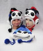 36 Units of Kids Winter Hat With Bear