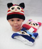 48 Units of Toddler Winter Warm Hat With Bear