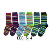360 Units of Women's Candy Stripes Crew Socks