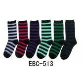 360 Units of Women's Dark Stripes Crew Socks