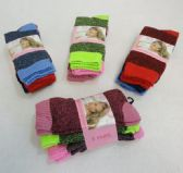 120 Units of Ladies Crew Brushed Boot Socks 9-11