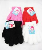 96 Units of Kids Winter Warm Gloves - Knitted Stretch Gloves