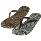 48 Units of Women's Leopard Thong Flip Flop
