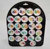 "156 Units of 1.5"" Round Dome Magnets [Alphabet Animals]"