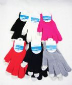 96 Units of Winter Warm Assorted Touch Screen Gloves - Conductive Texting Gloves