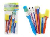 60 Units of 9 Piece Artist Paintbrush & Sponge Set - Paint and Supplies