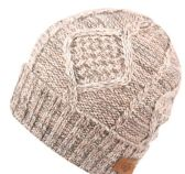 12 Units of MULTI COLOR KNIT BEANIE IN PINK WITH FUR LINING
