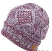 12 Units of MULTI COLOR KNIT BEANIE IN PURPLE WITH FUR LINING