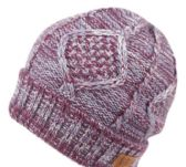12 Units of MULTI COLOR KNIT BEANIE IN LAVENDER WITH FUR LINING