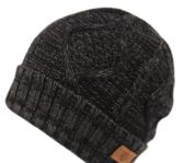 12 Units of MULTI COLOR KNIT BEANIE IN BLACK WITH FUR LINING