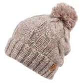 12 Units of HEAVY KNIT BEANIE IN MIX GREY WITH POM POM & SHERPA LINING - Winter Beanie Hats
