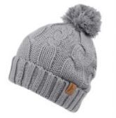 12 Units of HEAVY KNIT BEANIE IN CHARCOAL WITH POM POM & SHERPA LINING