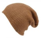 18 Units of 2 IN 1 REVERSIBLE SLOUCHY BEANIES IN LIGHT BROWN