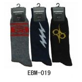 288 Units of Men's Assorted Print Crew Socks