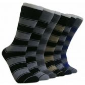 288 Units of Men's Striped Crew Socks