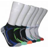 480 Units of Men's Racer Stripe Low Cut Ankle Socks - Mens Ankle Sock