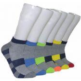480 Units of Men's Sport Stripe Low Cut Ankle Socks - Mens Ankle Sock