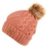 12 Units of KNIT BEANIE HAT WITH POM POM IN PINK