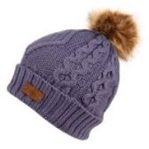 12 Units of KNIT BEANIE HAT WITH POM POM IN LAVENDER