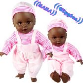 24 Units of Ethnic Baby Dolls With/ Sound