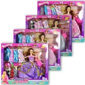 12 Units of 13 PIECE HAPPY MODEL FASHING DOLL SETS.