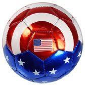 24 Units of No. 2 METALLIC US FLAG SOCCER BALLS.