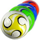 30 Units of OFFICIAL SIZE COLORFUL SWIRL SOCCER BALLS