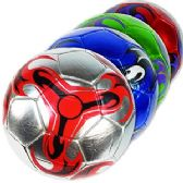 20 Units of OFFICIAL SIZE METALIC SWIRL SOCCER BALLS.
