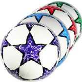 30 Units of OFFICIAL SIZE PATTERNED STAR SOCCER BALLS.