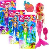 72 Units of 3 PIECE MINI MERMAID DOLL PLAY SETS