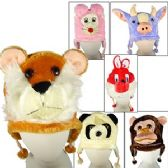 36 Units of PLUSH ANIMAL HATS. - Winter Animal Hats
