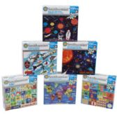 24 Units of Puzzle Smithsonian 100 Pcs 6 Assorted In Case 10 X 8 # 9036-nd - Crosswords, Dictionaries, Puzzle books
