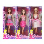 48 Units of Fashion Girl W/Comb & Accesories. In Window Box 3 Assorted.