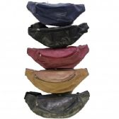 24 Units of Fanny Bag Suede Assorted