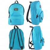 "24 Units of 16.5"" Track Backpacks In Lt. Blue Color - Backpacks 16"""